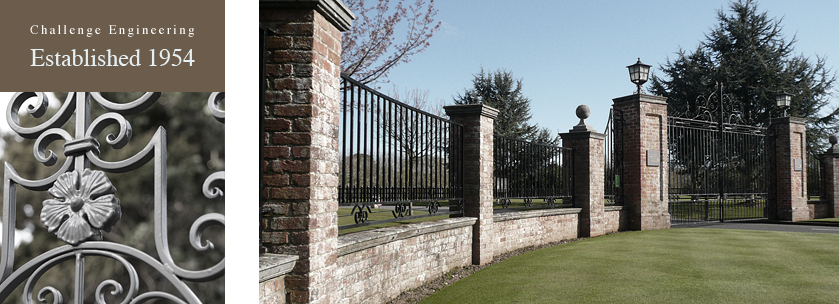 traditional wrought iron gates & railings for an estate in the New Forest