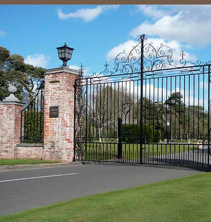 wrought iron gates in traditional English style